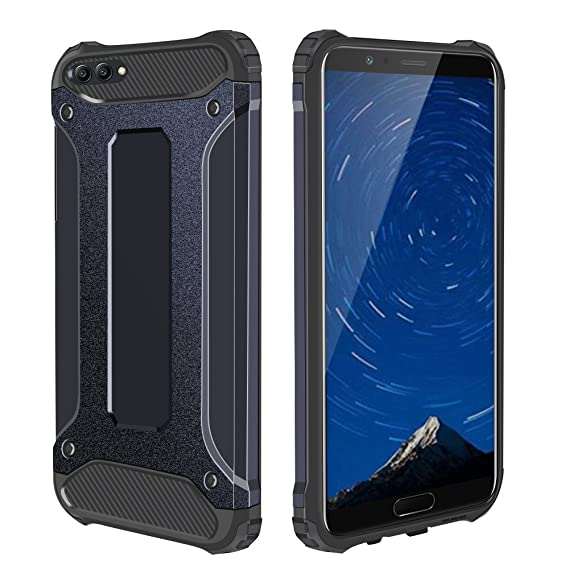 big sale 5a78f b3b23 Honor V10 Case, Jiunai Ultra Protective Phone Cover Shockproof TPU Bumper +  Hard Cover Dual-Layer Heavy Duty Rugged Case for Huawei Honor V10 View 10  ...
