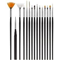 Acrylic Nail Art Brush Tool,Professional 15 Pcs Nail Art Kit Pen Gel Nail Polish Painting Brushes,Manicure Nail Art…