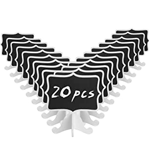 ANPHSIN Set of 20 Mini Chalkboard- Small Blackboard for Catering Supplies, Food Labels, Party Decorations, Table Numbers for Wedding and Chalk Board Markers