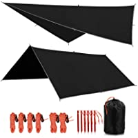 "REDCAMP Waterproof Camping Tarp - 36""x83""/55""x83""/71""x83""/82""x82""/95""x83"", 4 in1 Multifunctional Tent Footprint for…"