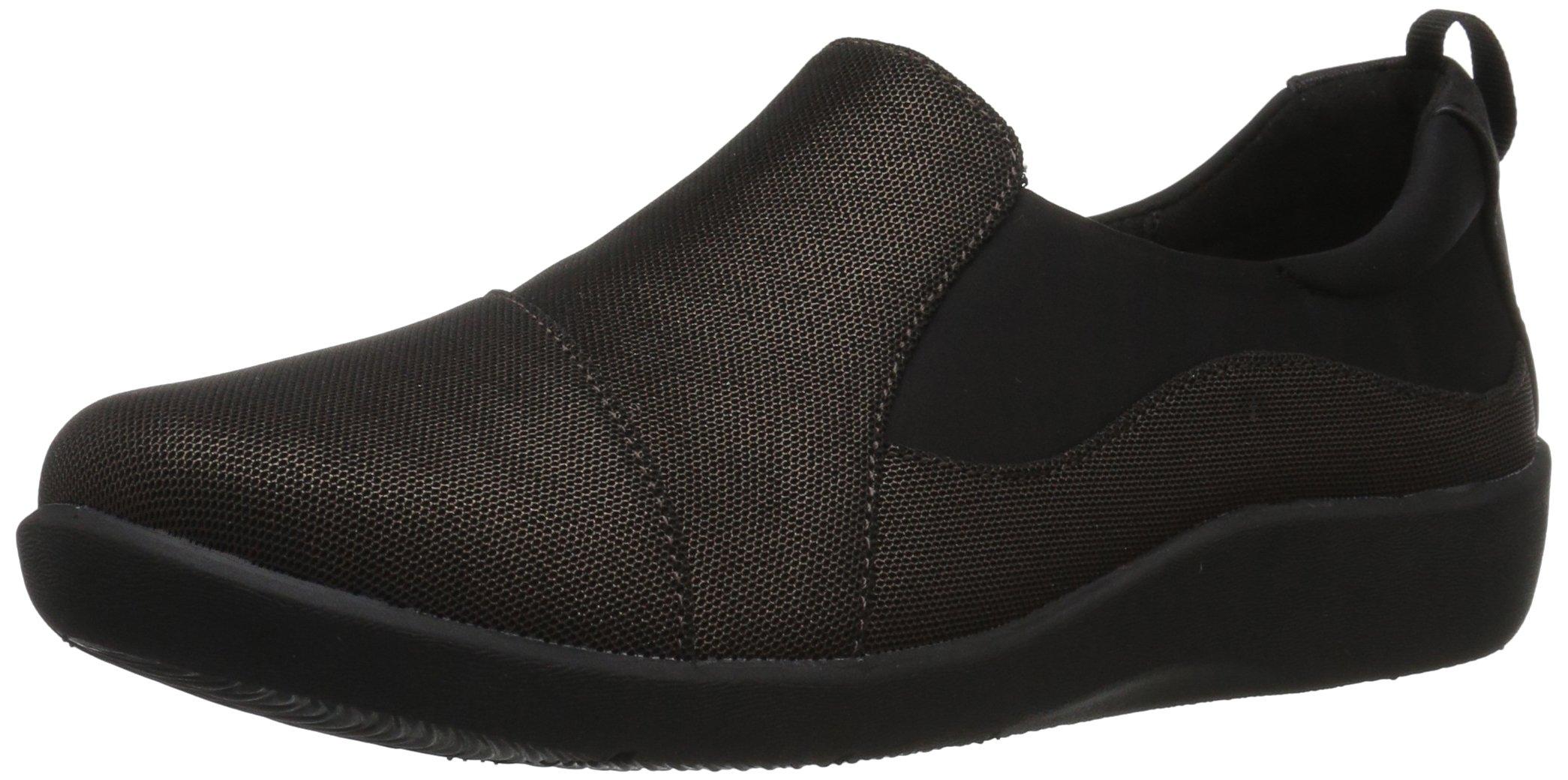 CLARKS Women's Sillian Paz Slip-on Loafer, Bronze Mesh, 7 W US