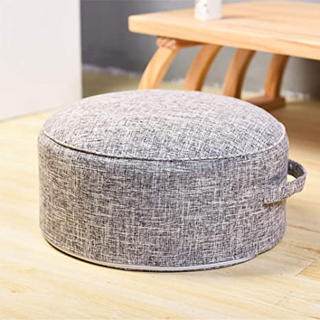 Awesome Amazon Com Idee Home Small Round Pouf Ottoman Footstool Machost Co Dining Chair Design Ideas Machostcouk