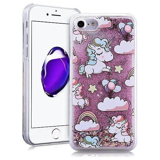"""5 opinioni per SMARTLEGEND Bling Glitter Rigida Cover per iPhone 7(4.7""""), Liquido Sabbie Mobili"""
