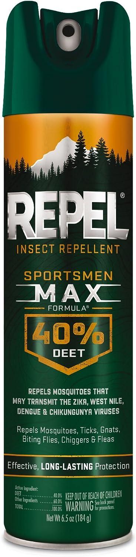 Repel 33801 6-1/2-Ounce Sportsmen Max Formula Aerosol 40-Percent DEET Spray, Case Pack of 1 Insect, 6.5 oz