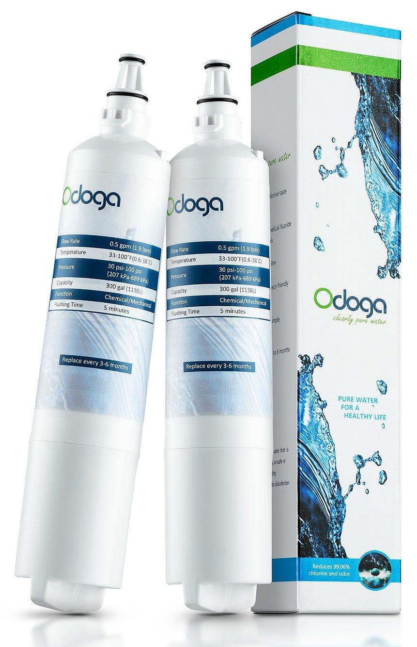 Odoga LT600P Refrigerator Water Filter Replacement for LG 5231JA2006A,LT600P, 5231JA2006B, CLS30320001, SGF-LB60, 469990 (2-Pack)