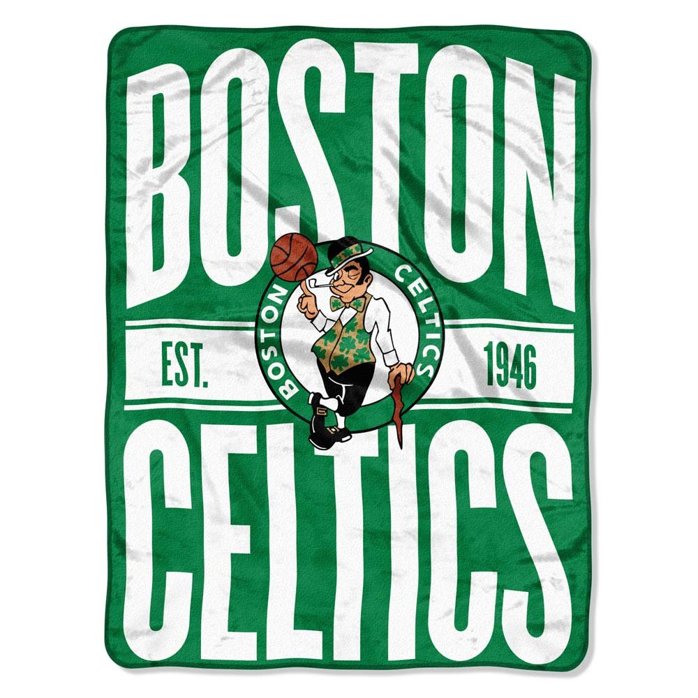 The Northwest Company NBA Boston Celtics Micro Raschel Throw, One Size, Multicolor