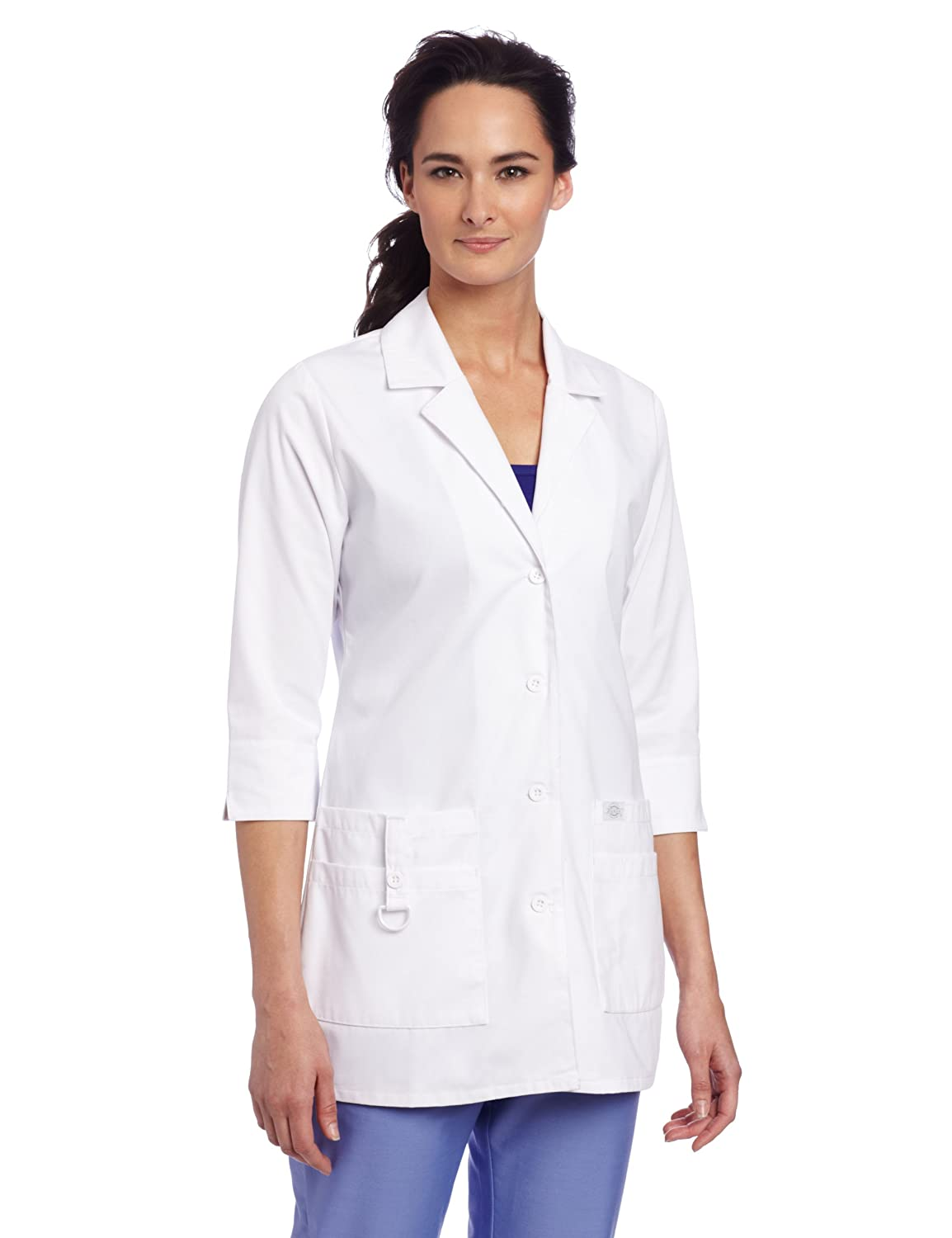 Amazon.com: Dickies Scrubs Women&39s Junior Fit 3/4 Sleeve Lab Coat