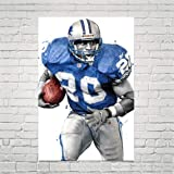 """NFL Poster 24/"""" X 36/"""" BARRY SANDERS NEW 2"""