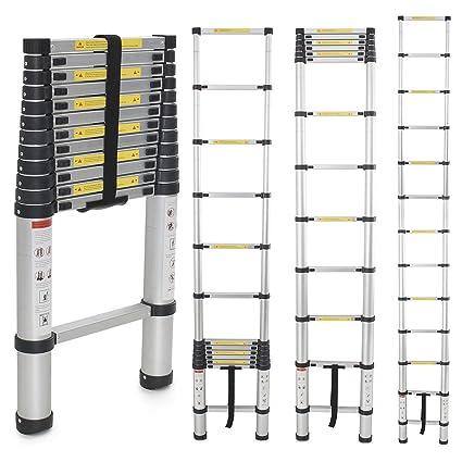 Generic EN131 Std. 12.5Ft Aluminum Telescopic Tel escoping Ladder Extension Exte nd Loft  sc 1 st  Amazon.com & Generic EN131 Std. 12.5Ft Aluminum Telescopic Tel escoping Ladder ...