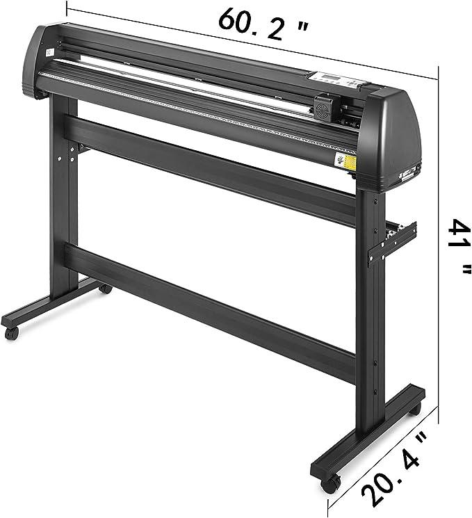Bisujerro 1350mm Plóter de Corte 53 Pulgadas Máquina de Plotter Plóter Máquina para Hacer Signo con Escáner Signmaster Software Cutter Plotter (1350mm): Amazon.es: Electrónica