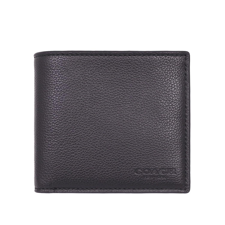 [コーチ] COACH 財布 (二つ折り財布) F75084 ブラック BLK レザー 二つ折り財布 メンズ [アウトレット品] [並行輸入品] B071KB5LCT