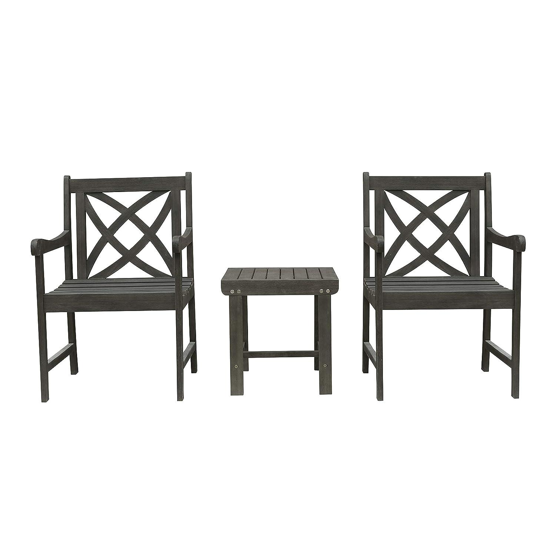 Amazon.com: Vifah Renaissance - Juego de 3 piezas de madera ...