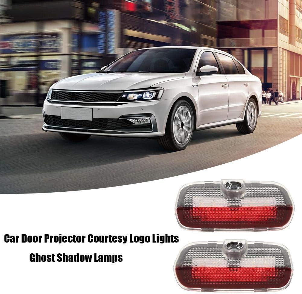 2pcs LED Lumi/ère de Bienvenue Projecteur de Porte de Voiture Tuankayuk de Logo de Courtoisie Lampes