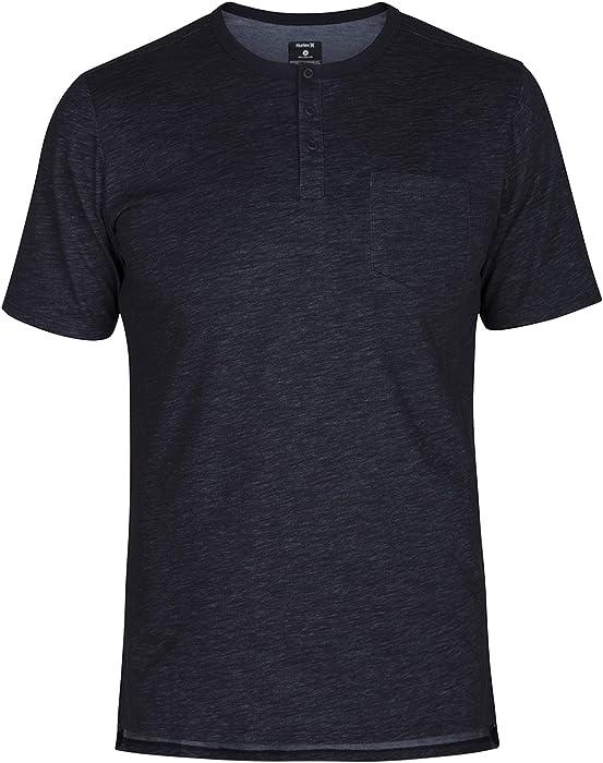 6853cef1a Amazon.com: Hurley Men's Nike Dri-Fit Lagos Short Sleeve Henley ...