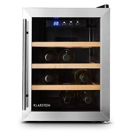 Klarstein Reserva 12 Uno Nevera para vino 12 botellas 33 L ...