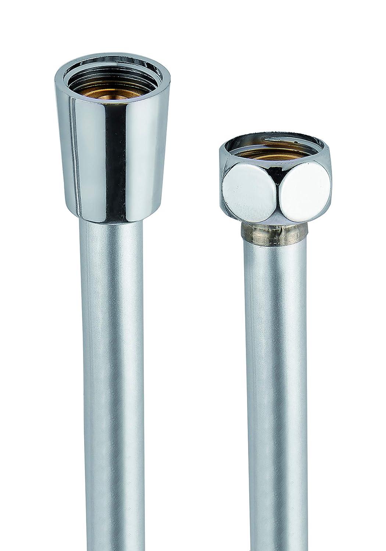 inserti interni in ottone rinforzato anticalcare made in Germany Flessibile Doccia in PVC silver Tubo Doccia 1.5m 5 anni garanzia