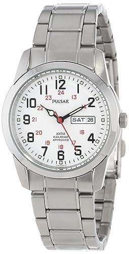 Pulsar PJ6007 - Reloj de Pulsera Hombre, Acero Inoxidable, Color Plata: Amazon.es: Relojes