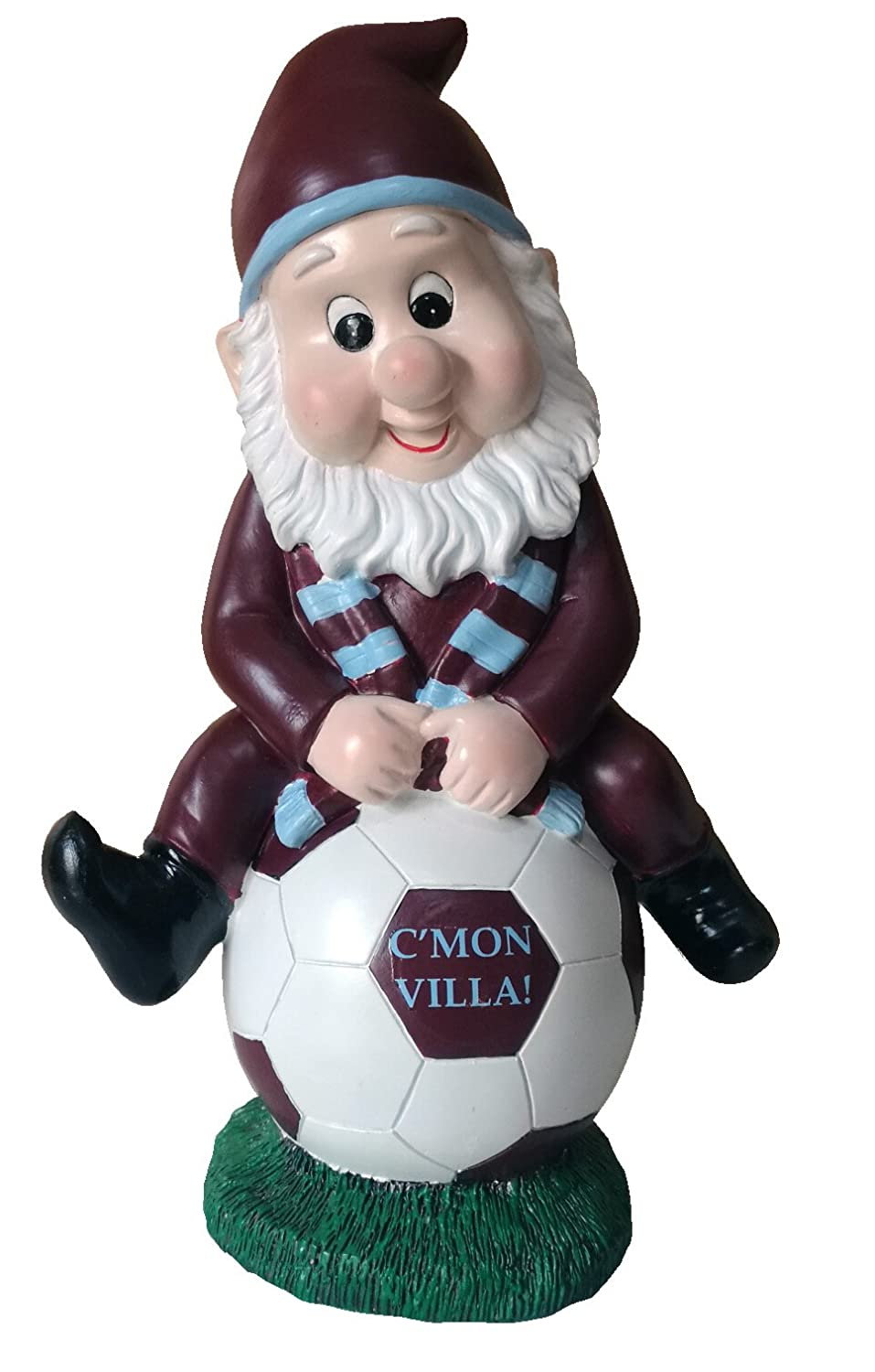 Aston Villa Colours Football Fan Claret Onesie Garden Gnome Williams Connaught