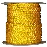 """3/8"""" x 1000' Reel, Yellow, Hollow Braid"""