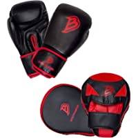 Boutmaster Youth Boxing Training Set, Kids or Teens Boxing Gloves and Boxing Pads Mitt Set