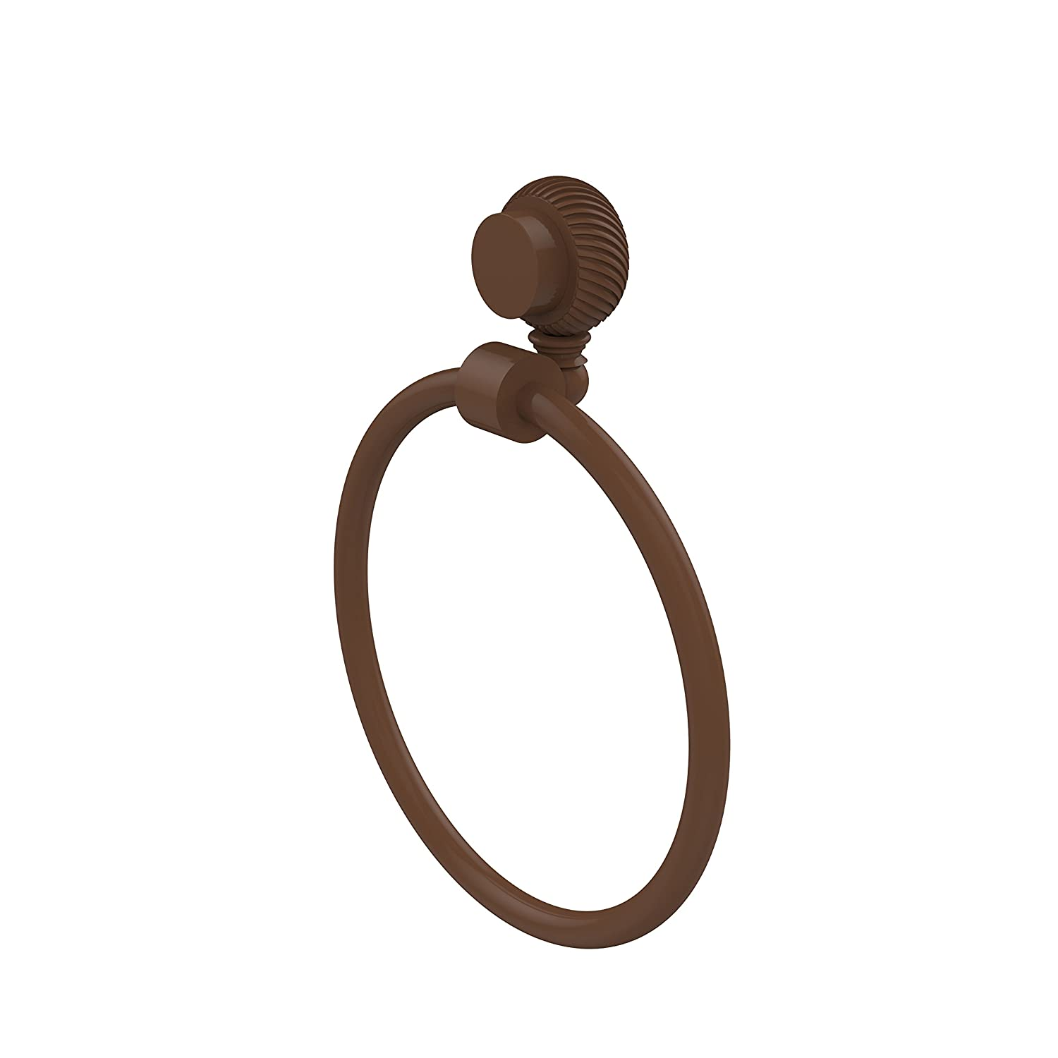 Allied Brass 416T-ABZ Venus Collection Towel Ring with Twist Accent Antique Bronze