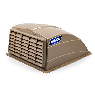 Camco Standard Roof Vent Cover, Opens for Easy Cleaning, Aerodynamic Design, Easily Mounts to RV with Included Hardware-Champagne (40463): Automotive