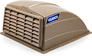 Camco Standard Roof Vent Cover, Opens for Easy Cleaning, Aerodynamic Design, Easily Mounts to RV with Included Hardware-Champagne (40463)