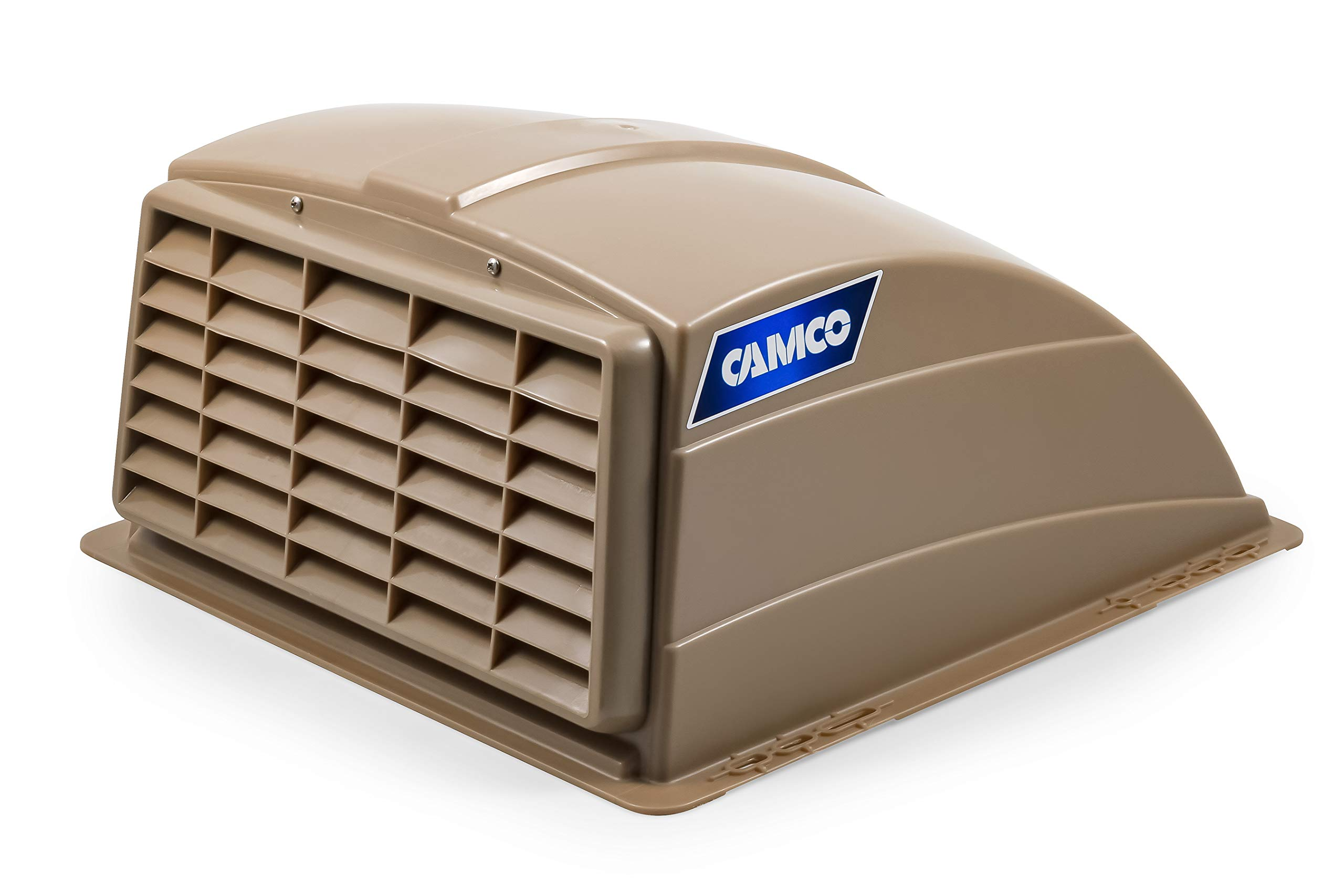Camco Standard Roof Vent Cover, Opens for Easy Cleaning, Aerodynamic Design, Easily Mounts to RV with Included Hardware-Champagne (40463) by Camco