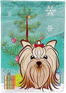 Caroline's Treasures BB1576GF Christmas Tree and Yorkie Yorkishire Terrier Flag Garden Size, Small, Multicolor