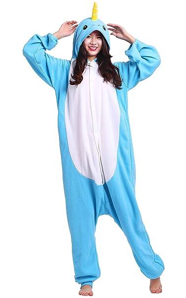 Jumpsuit Onesie Tier Karton Fasching Halloween Kostüm Sleepsuit Cosplay Overall Pyjama Schlafanzug Erwachsene Unisex Lounge K