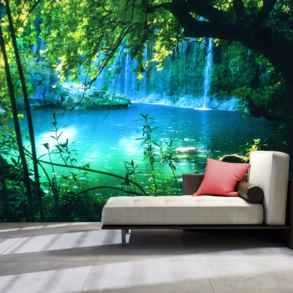 artgeist Photo Wallpaper Waterfall Nature 154''x110'' XXL Peel and Stick Self-Adhesive Foil Wall Mural Removable Sticker Premium Print Picture Image Design Home Decor c-B-0132-a-a by artgeist (Image #2)