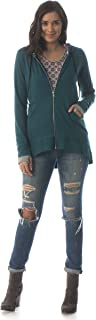 product image for Majamas Hawthorne Hoodie - ECO Friendly Women's Casual Long Sleeve high-Low Zip-up - Made in The USA