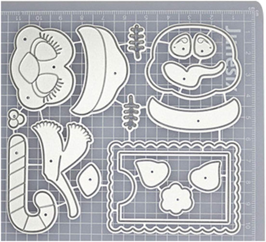 Scrapbooking Pr/ägeschablonen Festival Karten Foto Handwerk Dekor Geschenk Lai-LYQ Blumengrasbaum-Entwurf Stanzschablone
