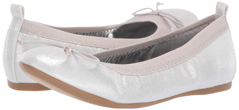 NINA Girls Esther Ballet Flat Silver 2 Medium US Little Kid