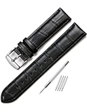 iStrap Watch Band Genuine Calf Leather Strap Alligator Grain 18mm19mm 20mm 21mm 22mm 24mm for Women Men
