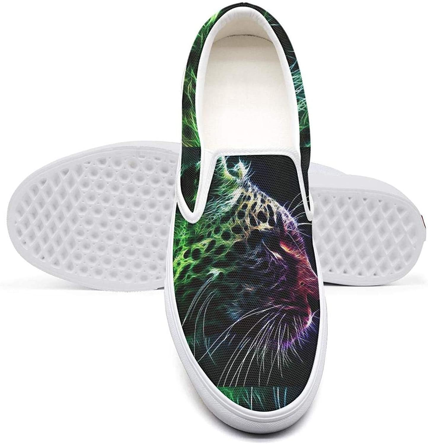 Skateboard Womens Sneakers Shoes Pink Animal Print Leopard Texture Slip ons for Women Cool Lightweight Canvas Sneakers