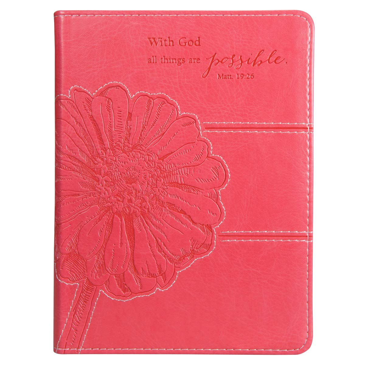 pink all things are possible flexcover journal