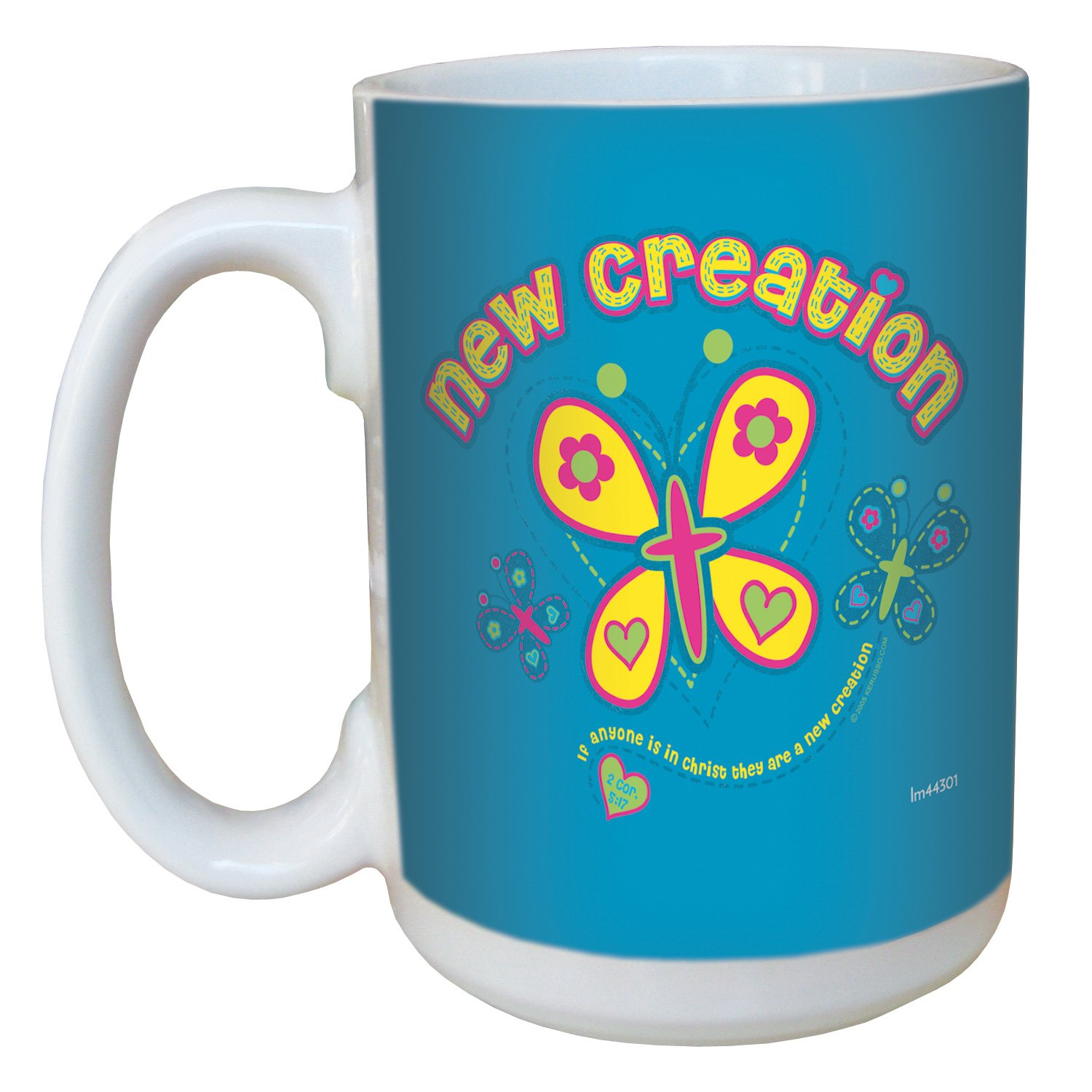 Tree-Free Greetings lm44301 New Creation: 2 Corinthians 5:17 Ceramic Mug with Full-Sized Handle, 15-Ounce by Tree-Free Greetings