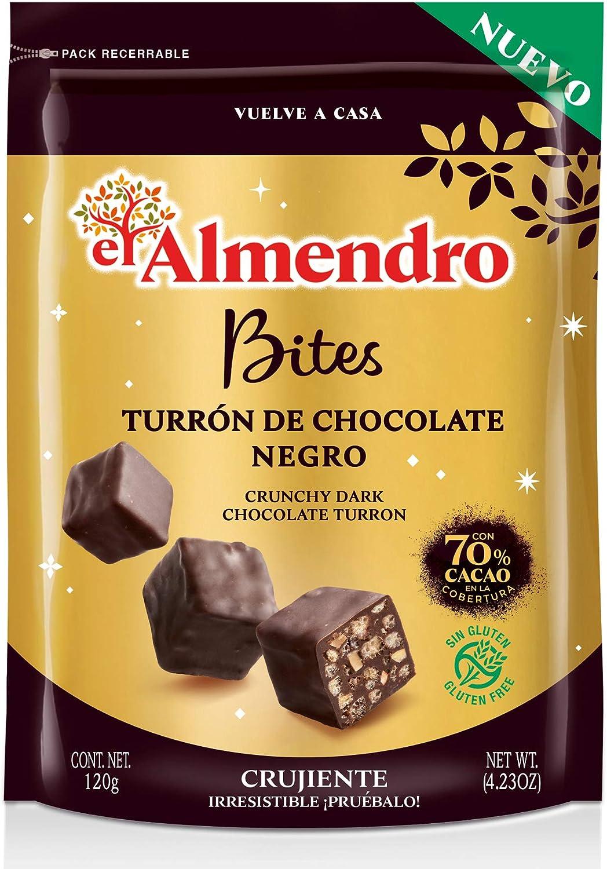 El Almendro Bites De Turrón De Chocolate Negro Crujiente 70% - 120 ...