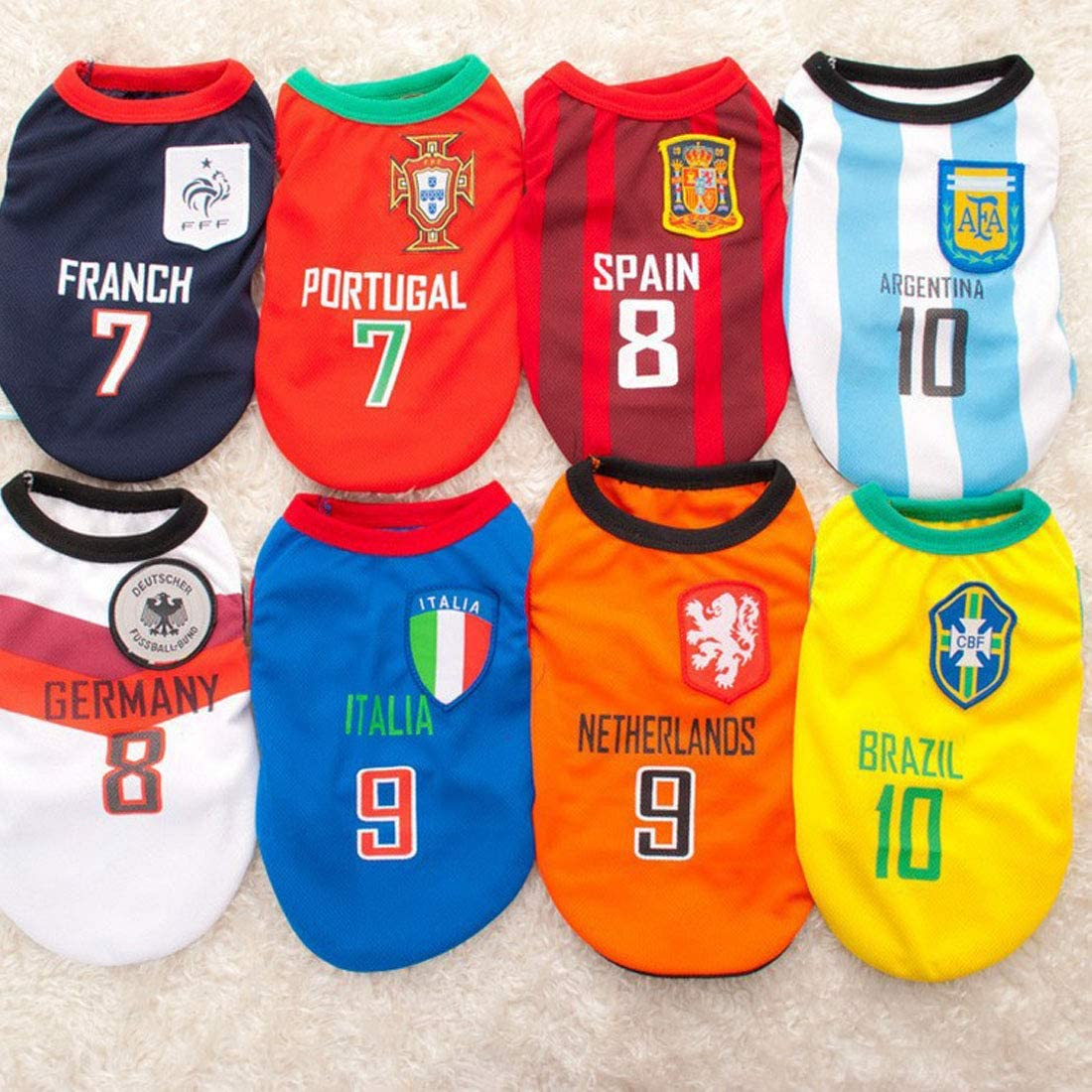 Amazon.com: Camiseta para perro de equipo nacional de fútbol ...