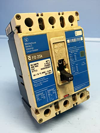 Cutler-Hammer FD3050 50A Circuit Breaker Glossy Blue FD3050L ... on