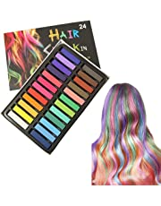 Hair Chalk Comb Temporary Hair Chalk, Temporary Hair Chalk Pens, Washable Hair Color Safe For Kids And Teen - For Party, Girls Gift, Kids Toy, Birthday Christmas Gifts For Girls, 24 Bright Colors