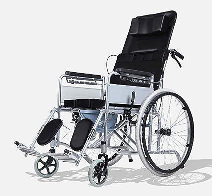Silla de ruedas Totalmente Tumbado, doblado con un Asiento, Anciano, discapacitado, Scooter