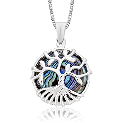 DTPSilver - 925 Sterling Silver Tree of Life Necklace Pendant On Adjustable 16