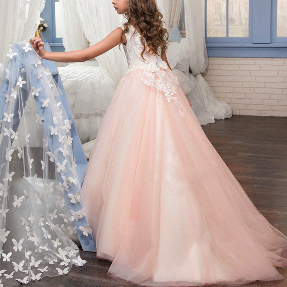 Vestido de Baile Pageant Princesa de Encaje con de Appliques Vestido ...