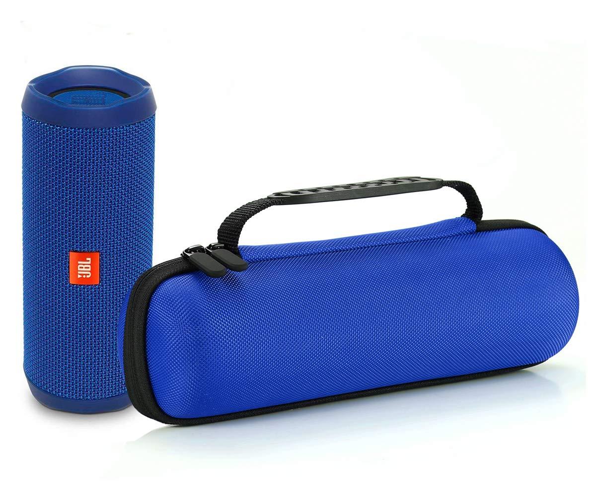 Nero Compatibile con cavo USB e caricatore da muro Custodia da viaggio rigida da viaggio per JBL Flip 4 // JBL Flip 3 Altoparlante portatile Bluetooth senza fili Fodera Nero