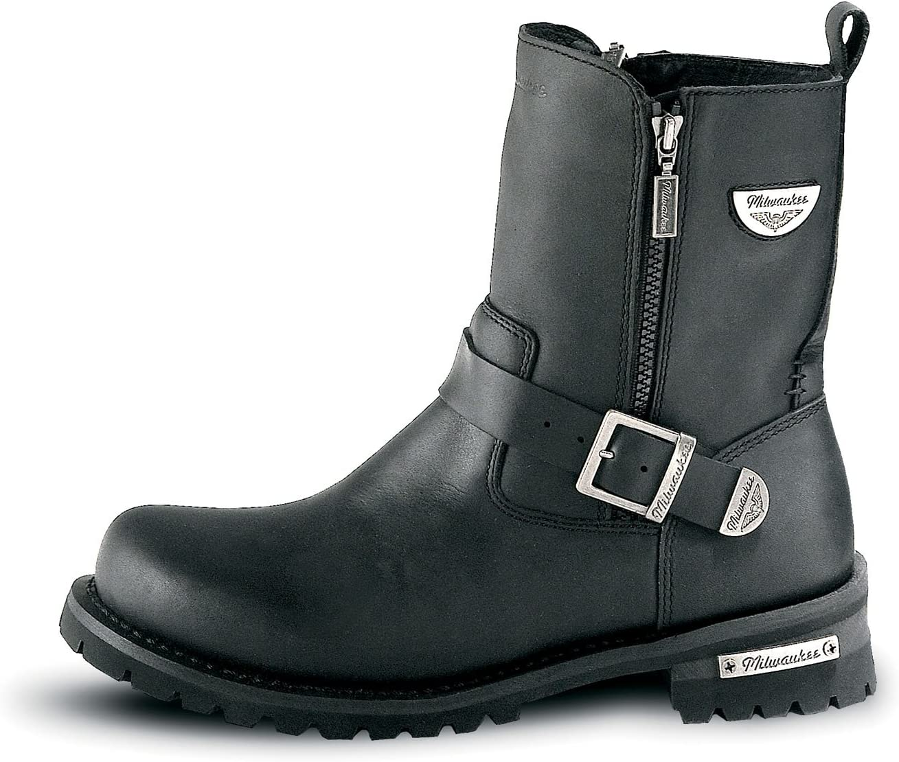 Black, Size 8 Milwaukee Motorcycle Clothing Company Mens Afterburner Boots
