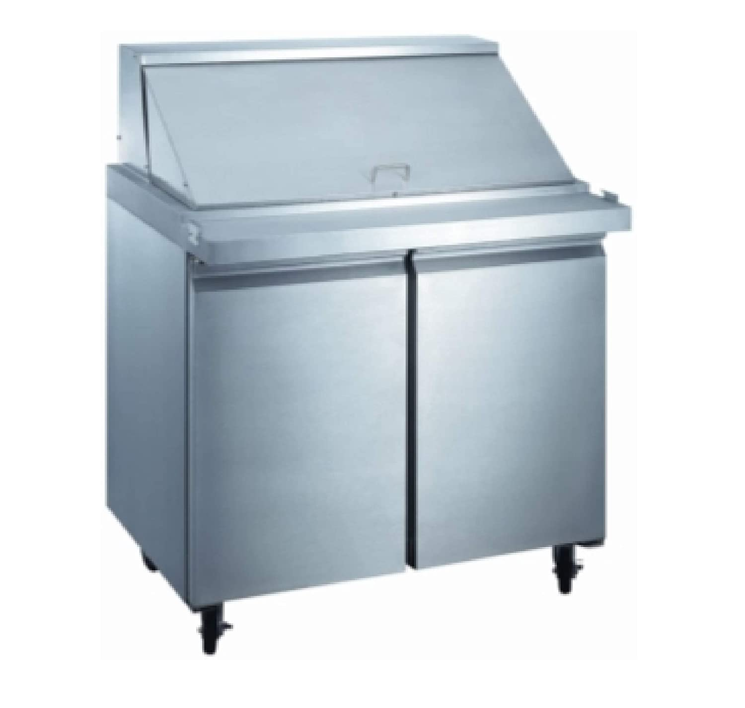 """36"""" Commercial Mega Top Refrigerator Model SCLM2-36 NSF Sandwich Salad Refrigerated Prep Table"""