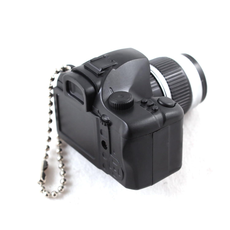 Camera christmas ornaments - Amazon Com Mini Black Slr Camera Toy Keychain Keyring Flash Torch Charm Ornament Decoration Home Kitchen