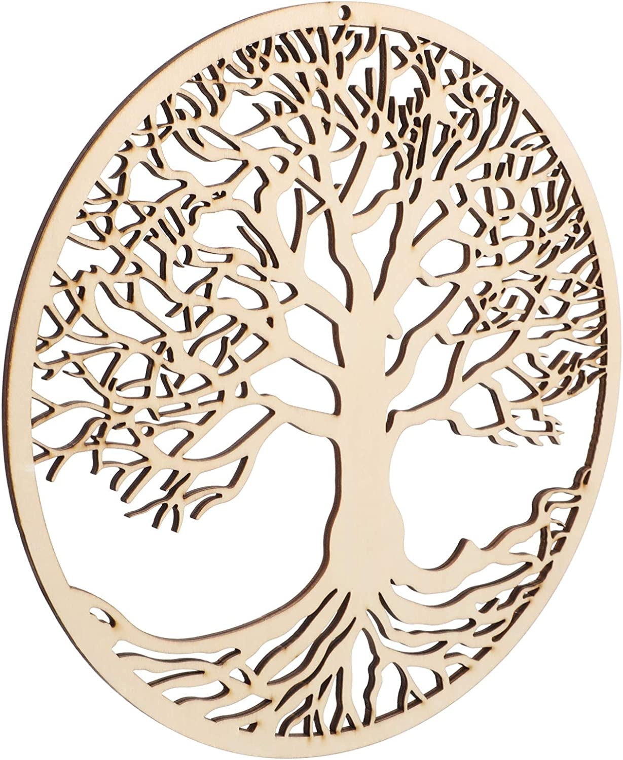 YARNOW Tree of Life Wall Decor Spiritual Wall Wooden Symbol Meditation Tree Wood Plaque Wall Hanging Sculpture for Home Office Decor